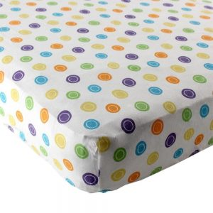 Luvable Friends  Print Fitted Knit Crib Sheet- Multi Colored