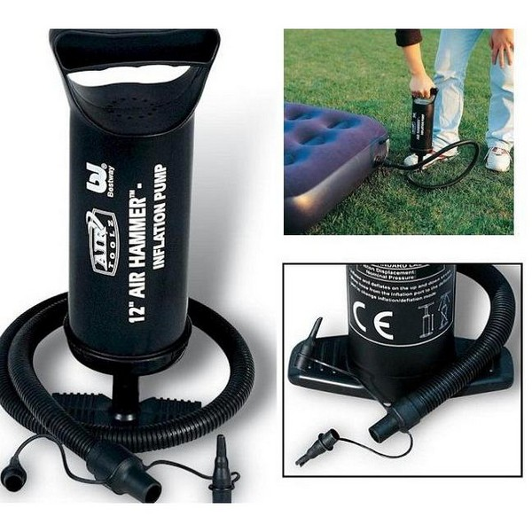 12 INCH BESTWAY HAMMER AIR PUMP INFLATION HAND FOR AIR BED CAMPING BEACH TOYS