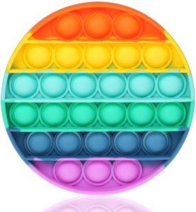 Pop It Fidget Toy Rainbow Round