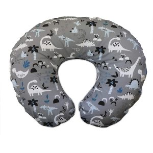 Boppy Feeding and Support Pillow Grey Dinosaurs