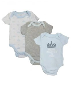 Quiltex Baby Boy Bodysuits, 3-Pack Charming is Here