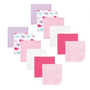 Lovable Friends 12pk Wash Cloth-Pink