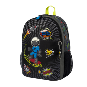 Totto Large school backpack – Cool Patch