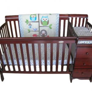 5-in-1 Wooden Crib w' Changing Table – Espresso
