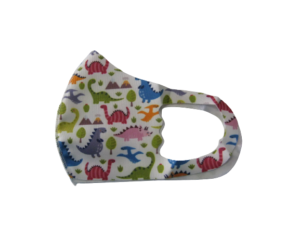 Youth Child Reusable Washable Face Mask Dino