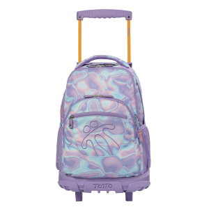 Totto Girl's Watercolour Wheeled Backpack