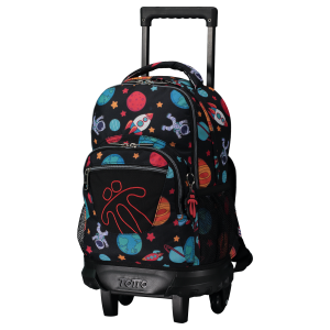 Totto Wheeled Backpack Black Rocket
