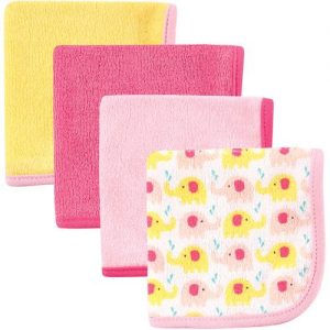 Luvable Friends Baby Washcloths, Pink, 4 Pack
