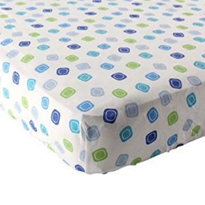 Geometric Fitted Knit Crib Sheet