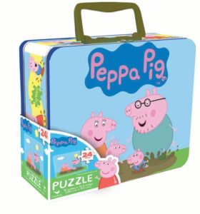 Peppa Pig – 24-Piece Puzzle in Tin with Handle