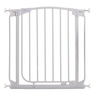 Chelsea 28-32in Auto Close Metal Baby Gate – White