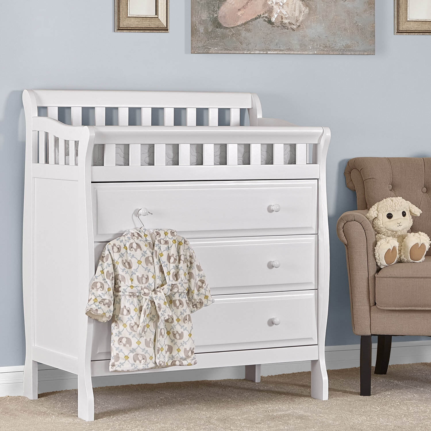 Picture of: Wonder Baby Changing Table Dresser White Child S Play