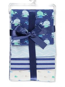 Petite L'amour 4-Pack Flannel Receiving Blankets – Whale