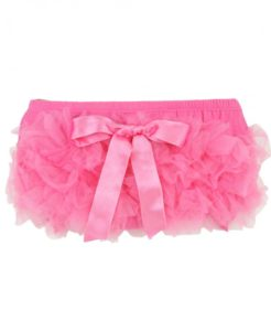 Ruffly Rumps Pink Knit Bow Bloomer