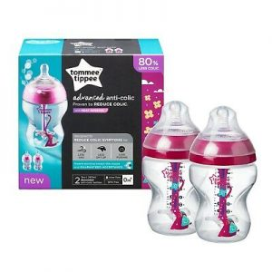 Tommee Tippee 2 Pack Advanced Anti-Colic Bottles with Heat-Sensing Technology – 9oz